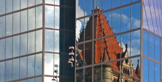 Blog Post 3 - Reflection of Church on Building (iStockphoto 2658540_Small)