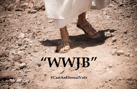 Blog Post 70 - Jesus Feet (with WWJB words)1