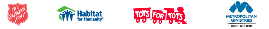 Trusted by The Salvation Army, Habitat for Humanity, Toys for Tots, and Metropolitan Ministries.